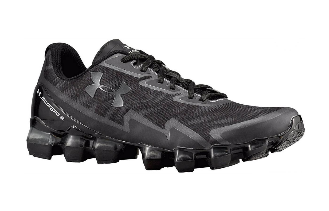 Cleat-like lugs are visible from side profile of the Under Armour Scorpio 2