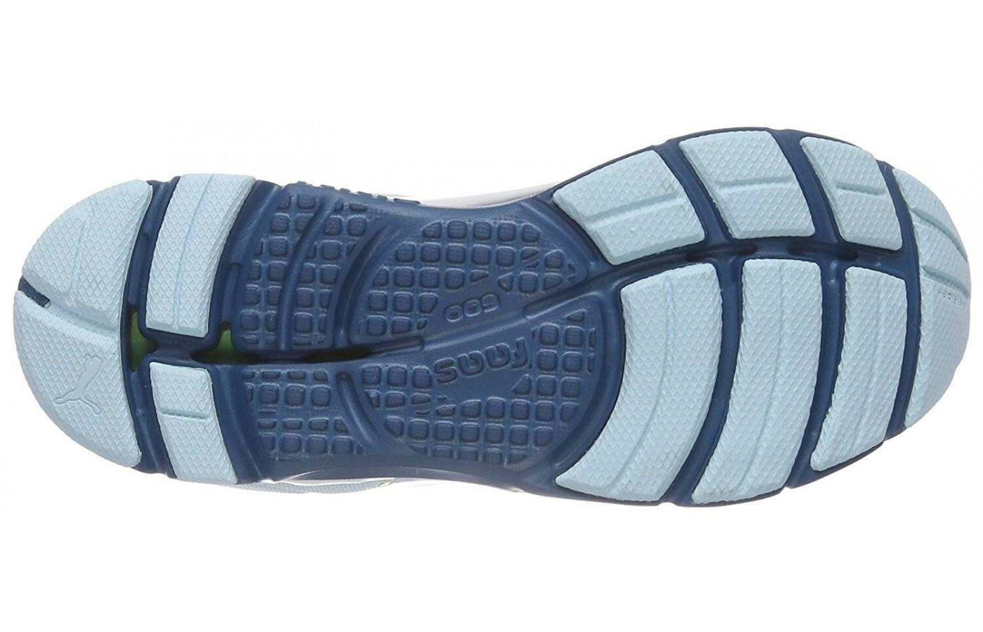 The durable rubber outsole of the Puma Faas 600 v3