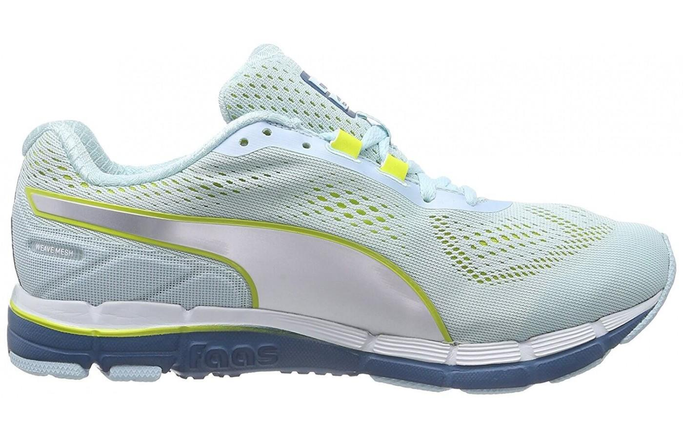 The Puma Faas 600 v3 is known for its glove-like fit through the upper