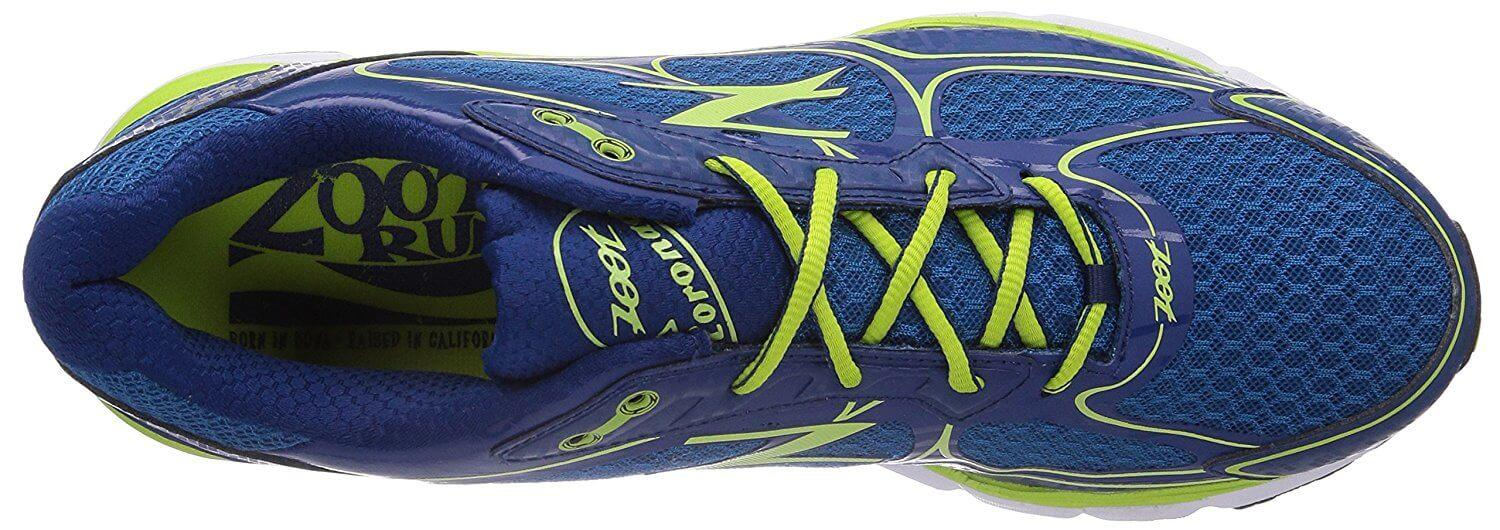 the upper of the Zoot Coronado has a lot of mesh for great breathability