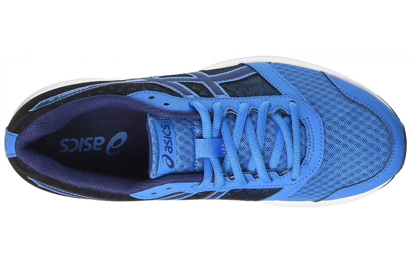 the breathable mesh upper of the ASICS Patriot 8