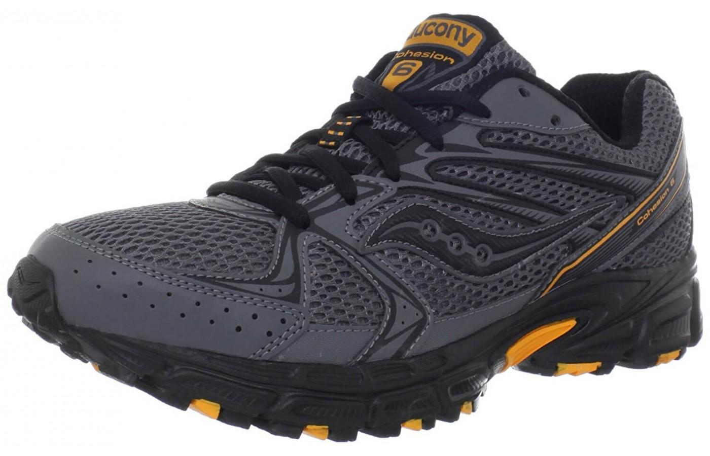 The Saucony Cohesion TR6 showing off it's rugged good looks