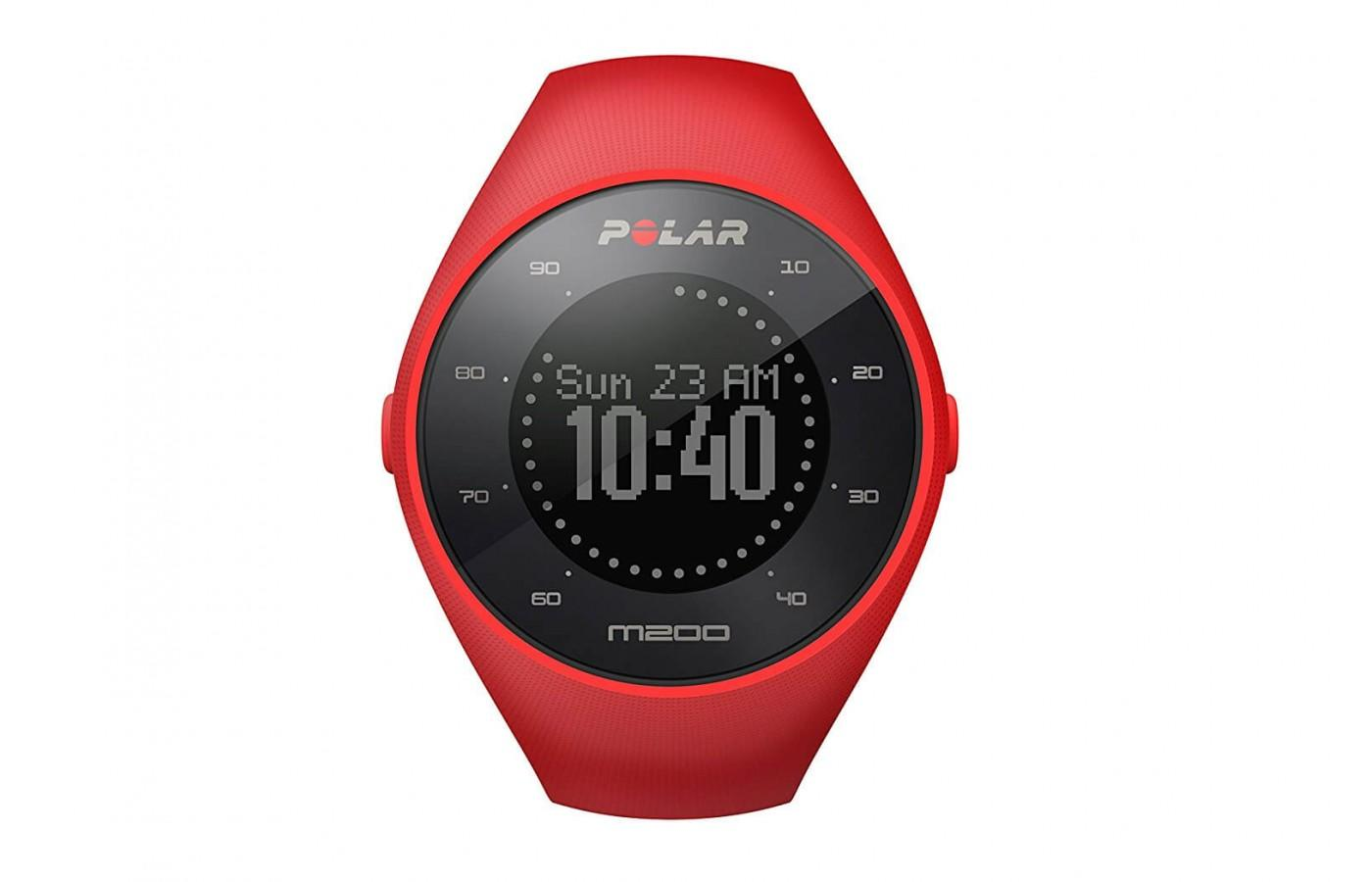 The Polar M200 comes in red and black