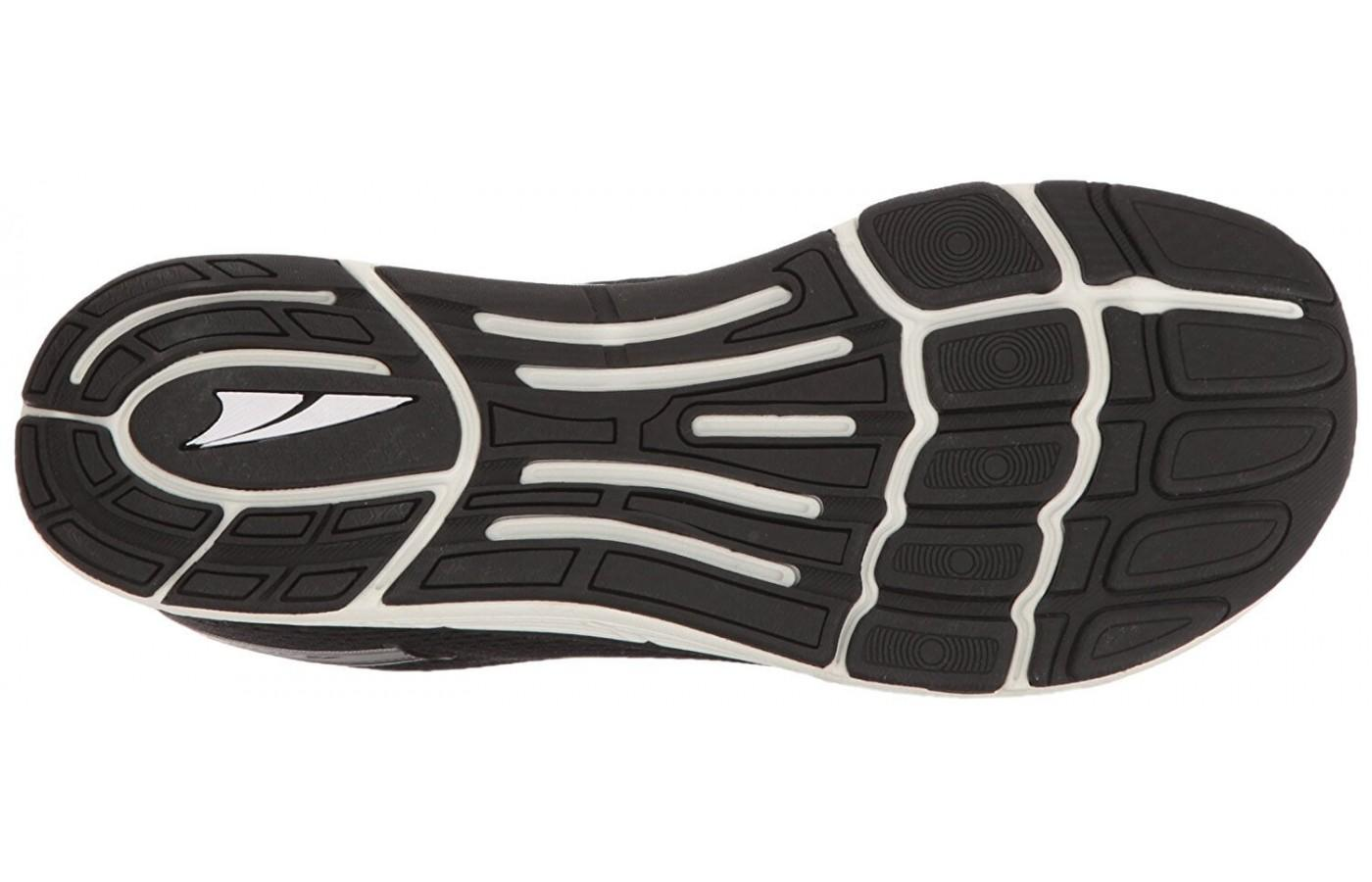 The outsole provides a lot more traction than it seems