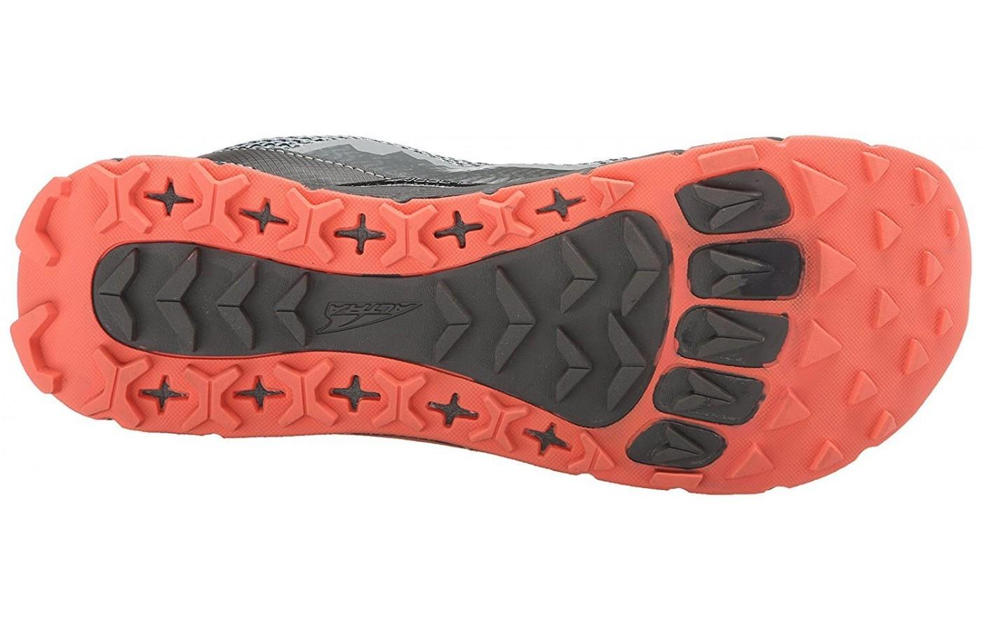 You can clearly see the shape of a foot within the outsole's design