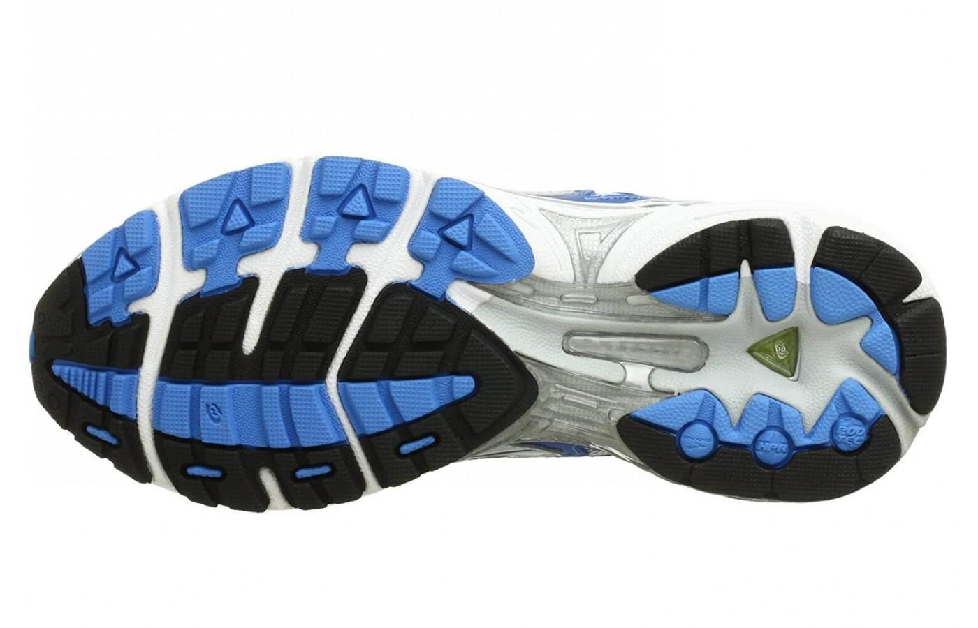 Brooks Adrenaline GTS 8's sole is made of carbon rubber