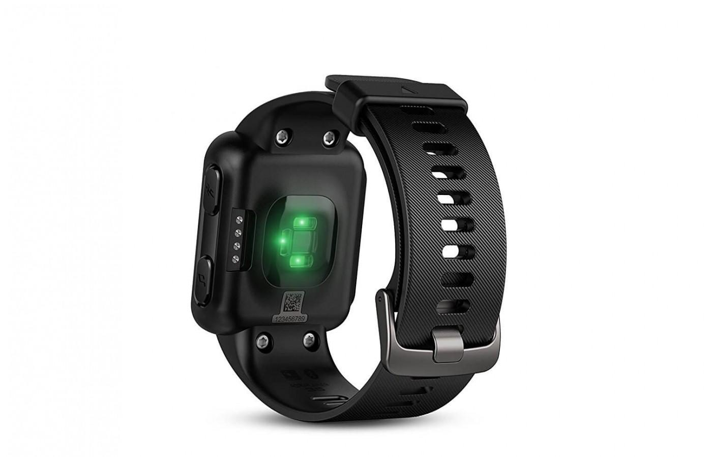 The Garmin Forerunner 35 has a heart rate monitor in its wrist