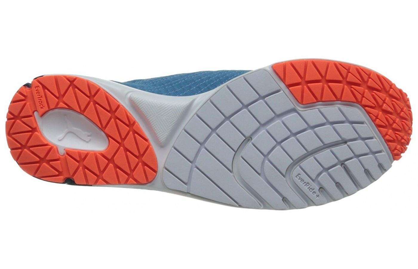 The durable outsole will last on any road surface