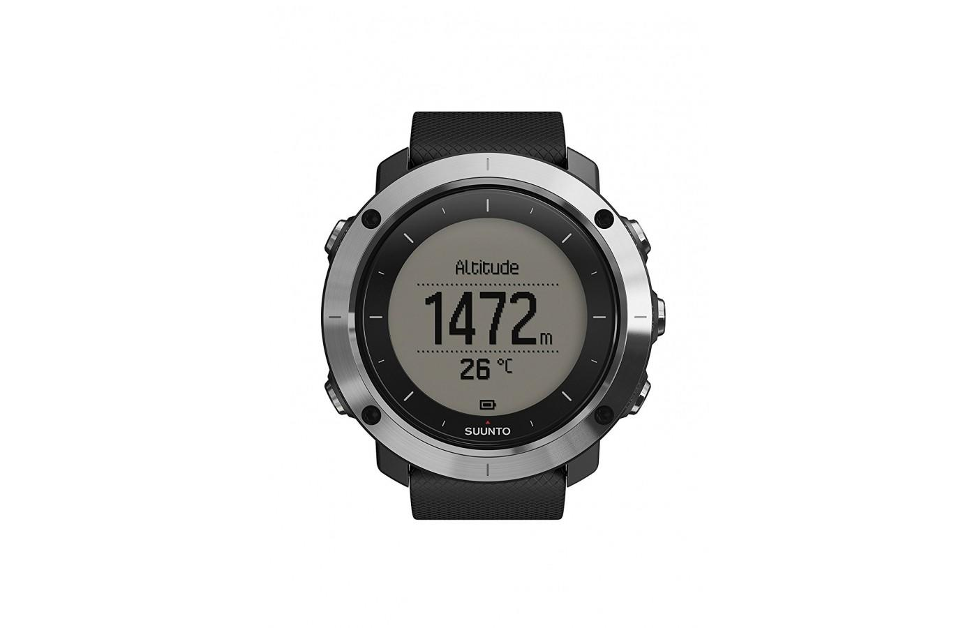 Suunto Traverse will show you altitude and temperature