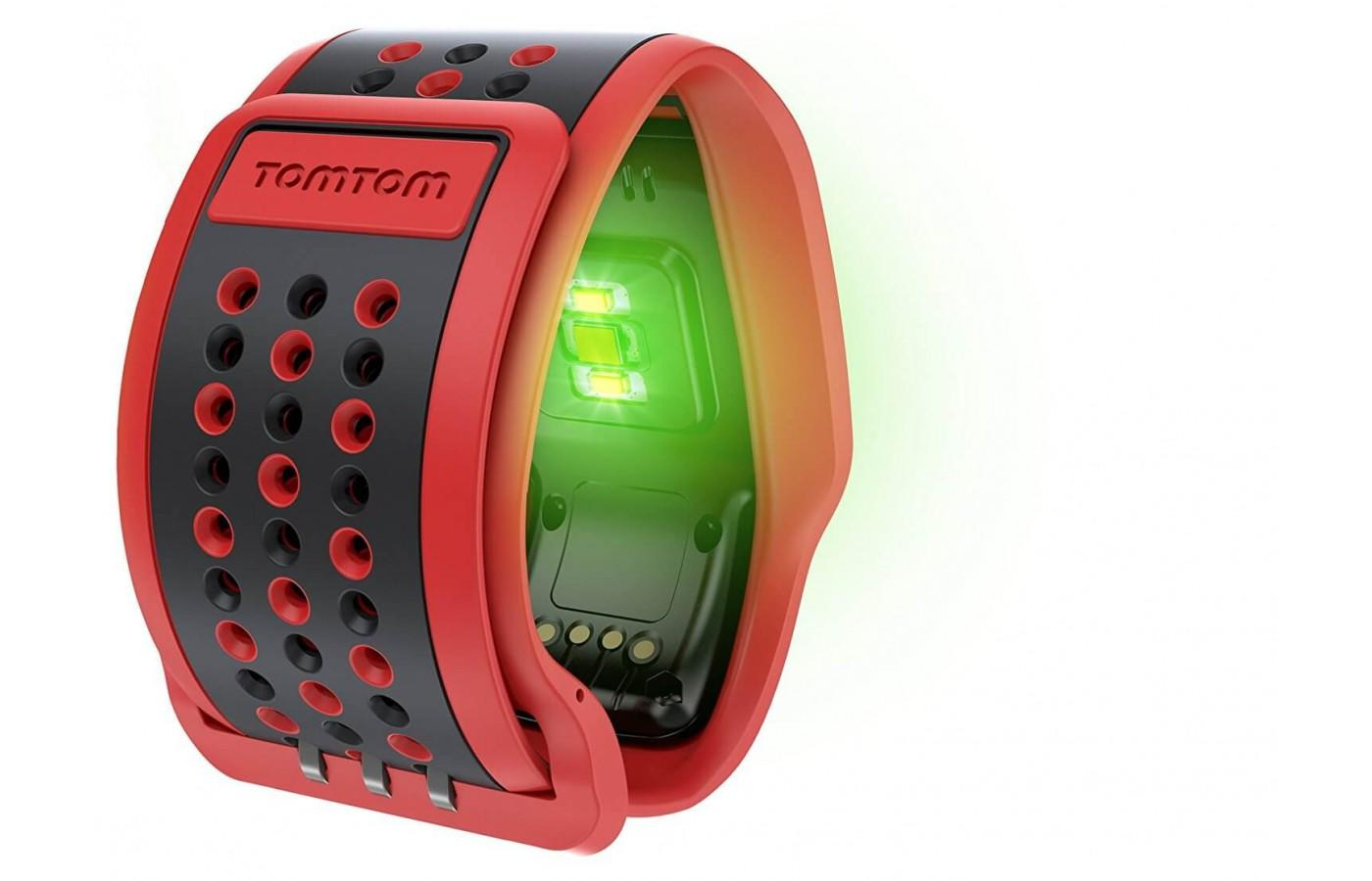 Your heart rate is measured through the wrist band