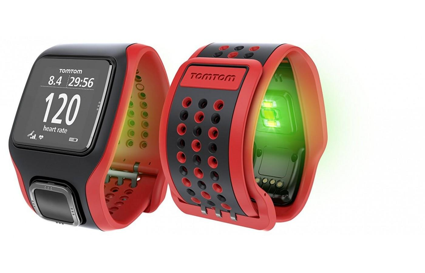 Large yet comfortable design of the TomTom Runner Cardio
