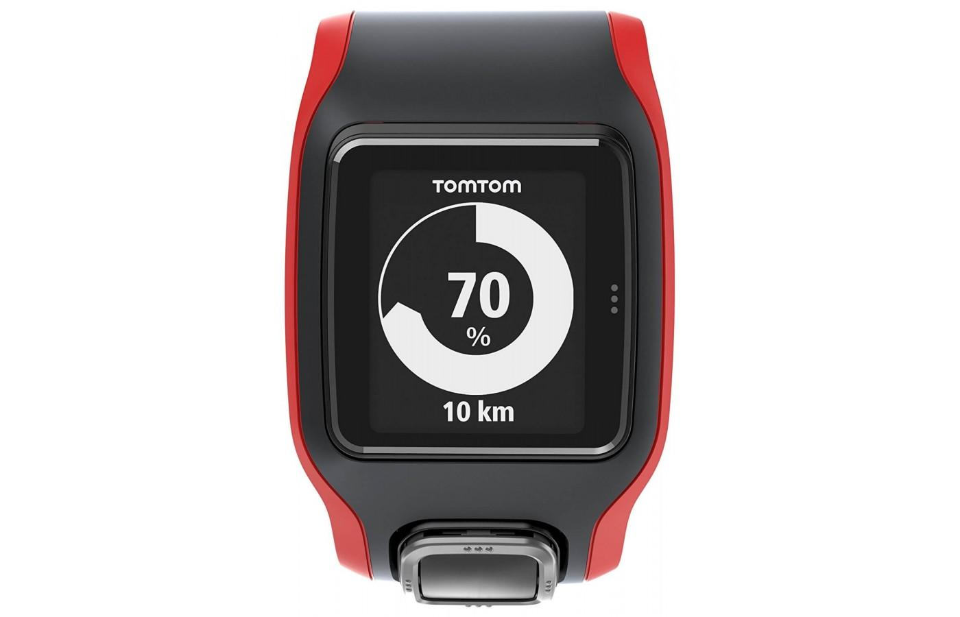 Easy to read face of the TomTom Runner Cardio