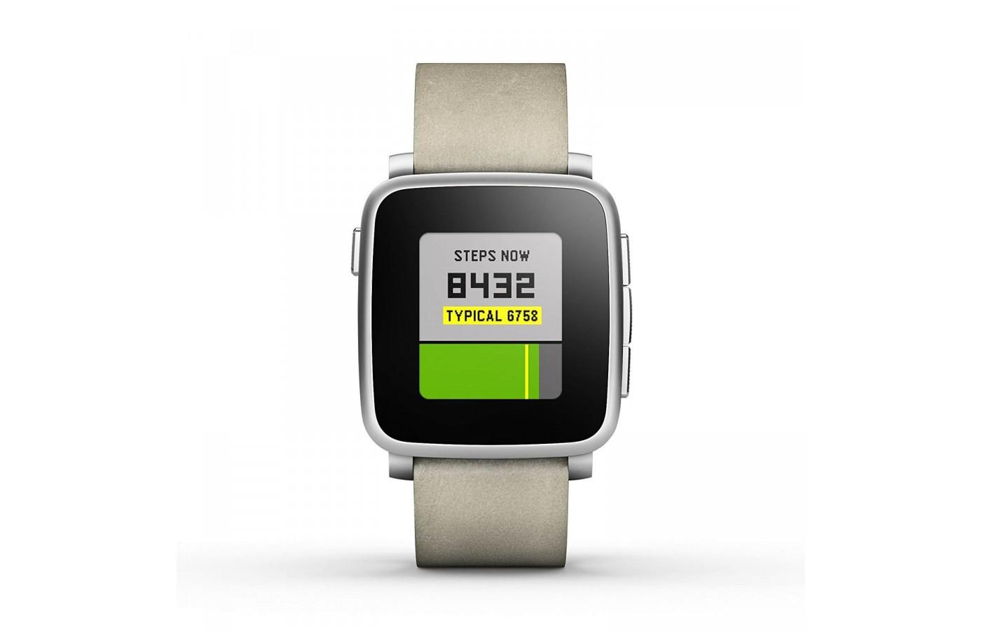 The Pebble Time Steel features a metal bezel around the display.