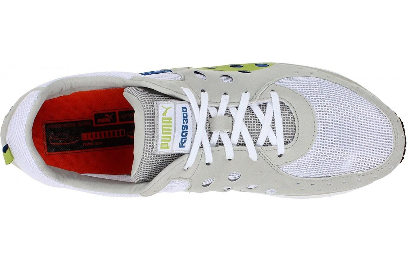 Here's a look at the breathable upper of the Faas 300