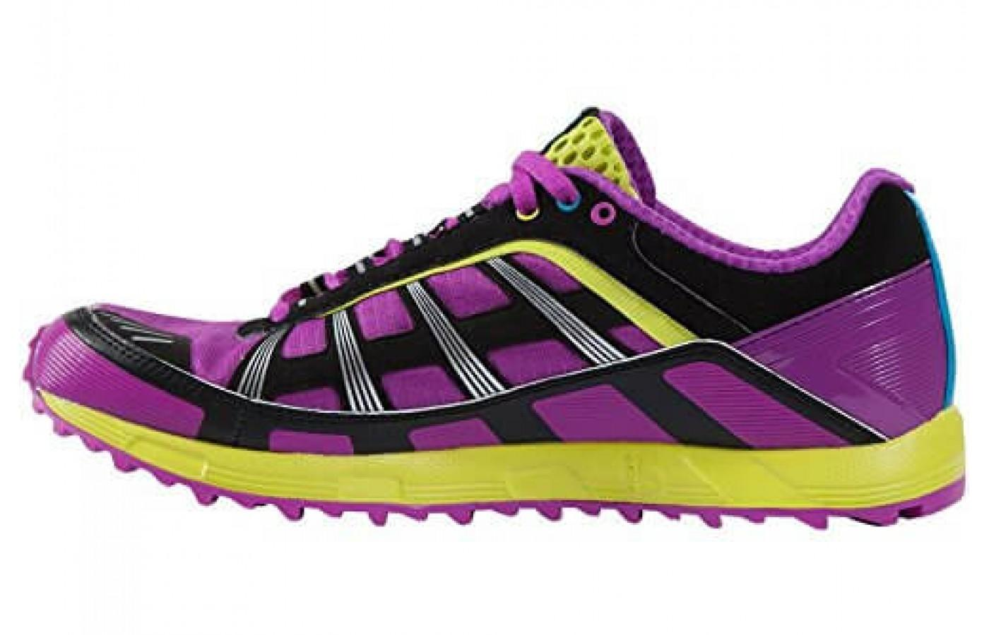 Great side view of the vibrant color choice and the thick, protective outsole