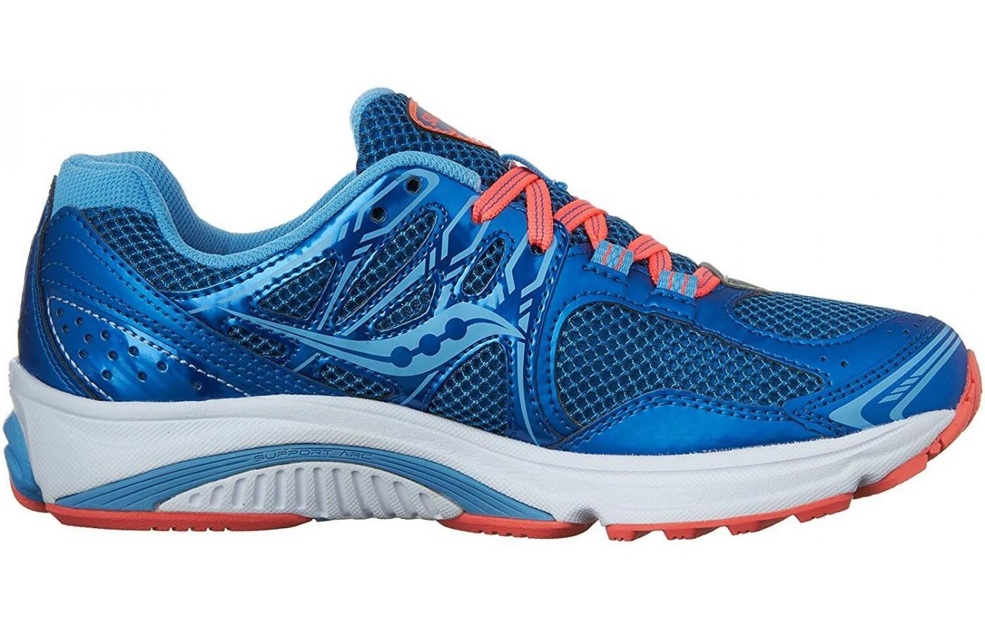 Saucony Lancer 2 in blue color with orange accents