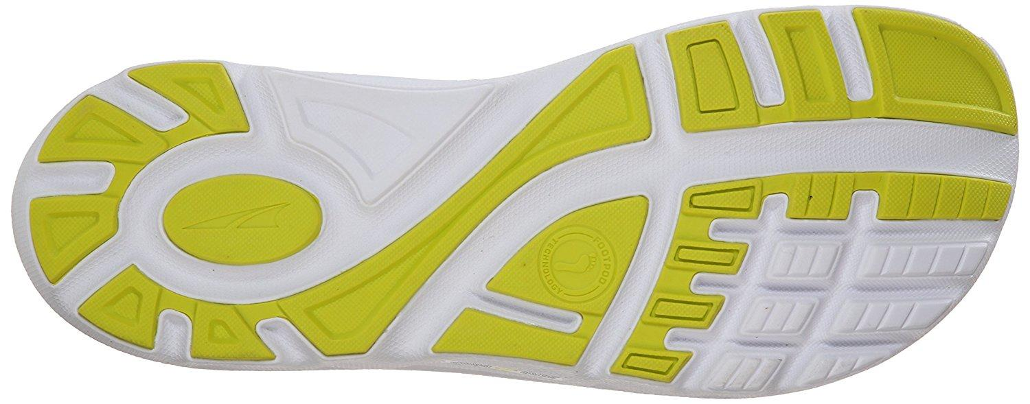 The sticky rubber outsole provides good traction on road and light trails