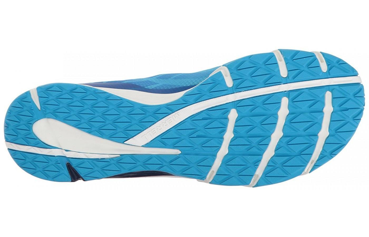 The outsole of the shoe incorporates maximum grip, making these shoes great for the trail!