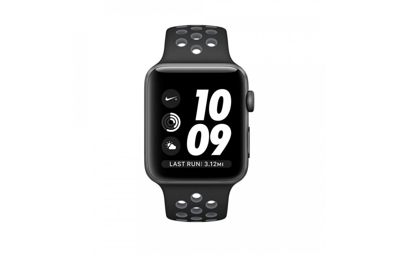 the Apple Watch Nike+ features a large, easy-to-read face