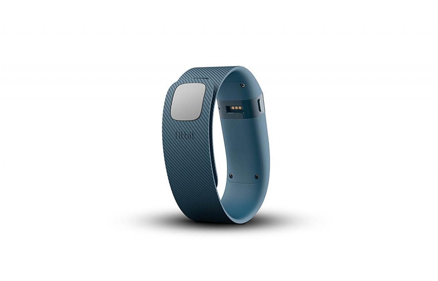 The Charge measures your heart rate through its wrist monitor.