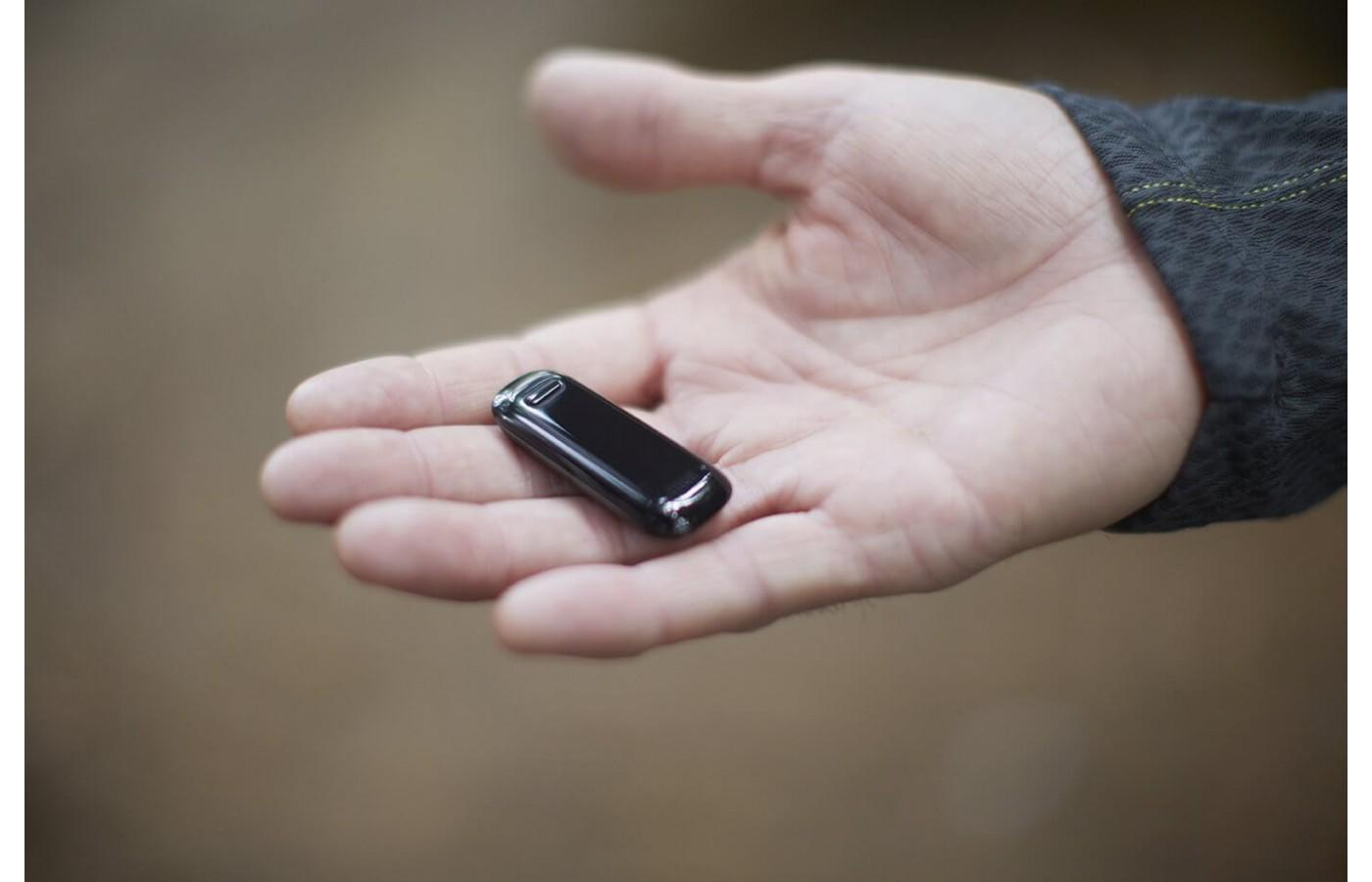 The Fitbit One is small and can be easily concealed
