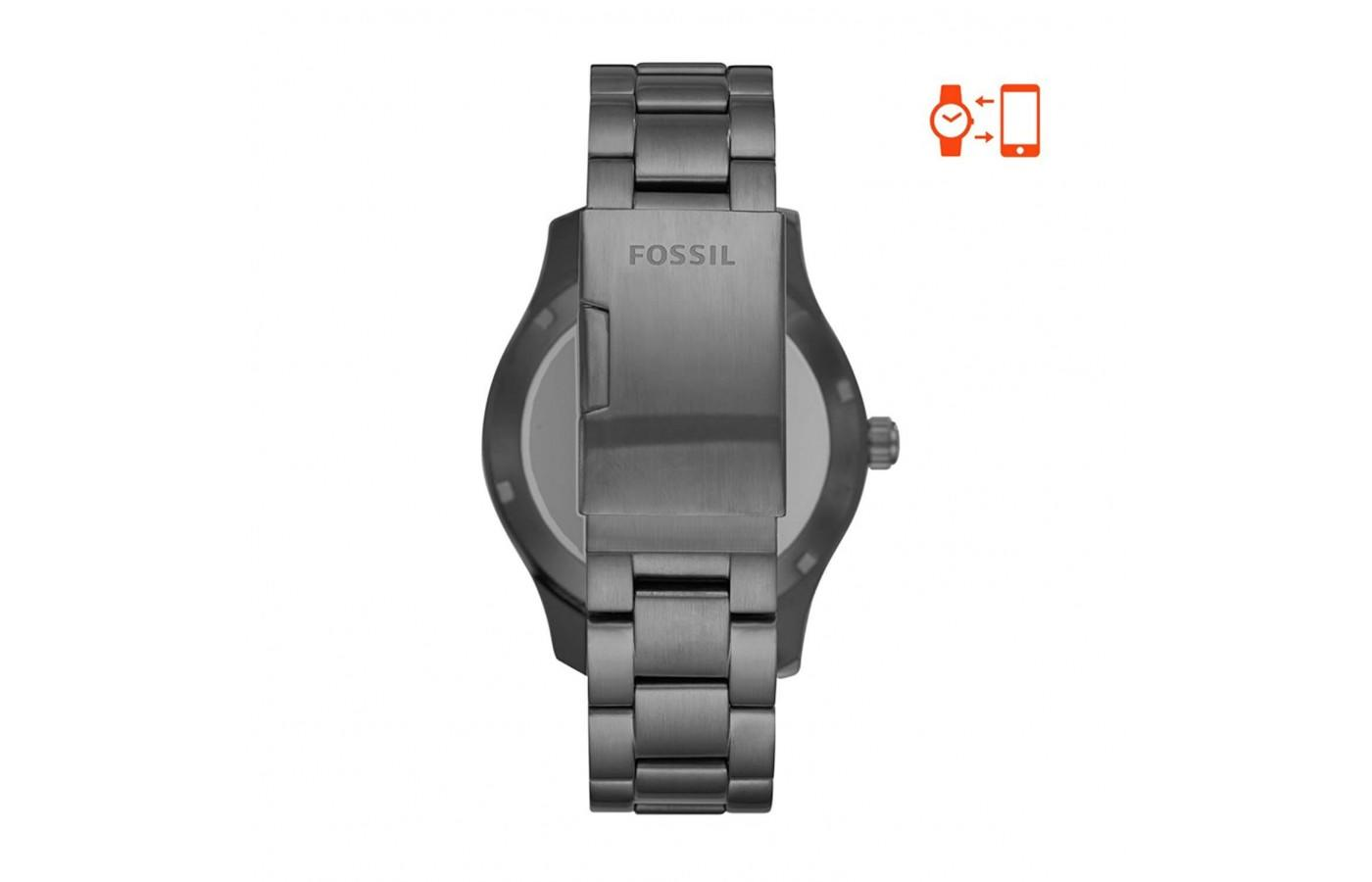 Back of Q Marshal Fossil Gen 2 Smartwatch in Stainless Steel