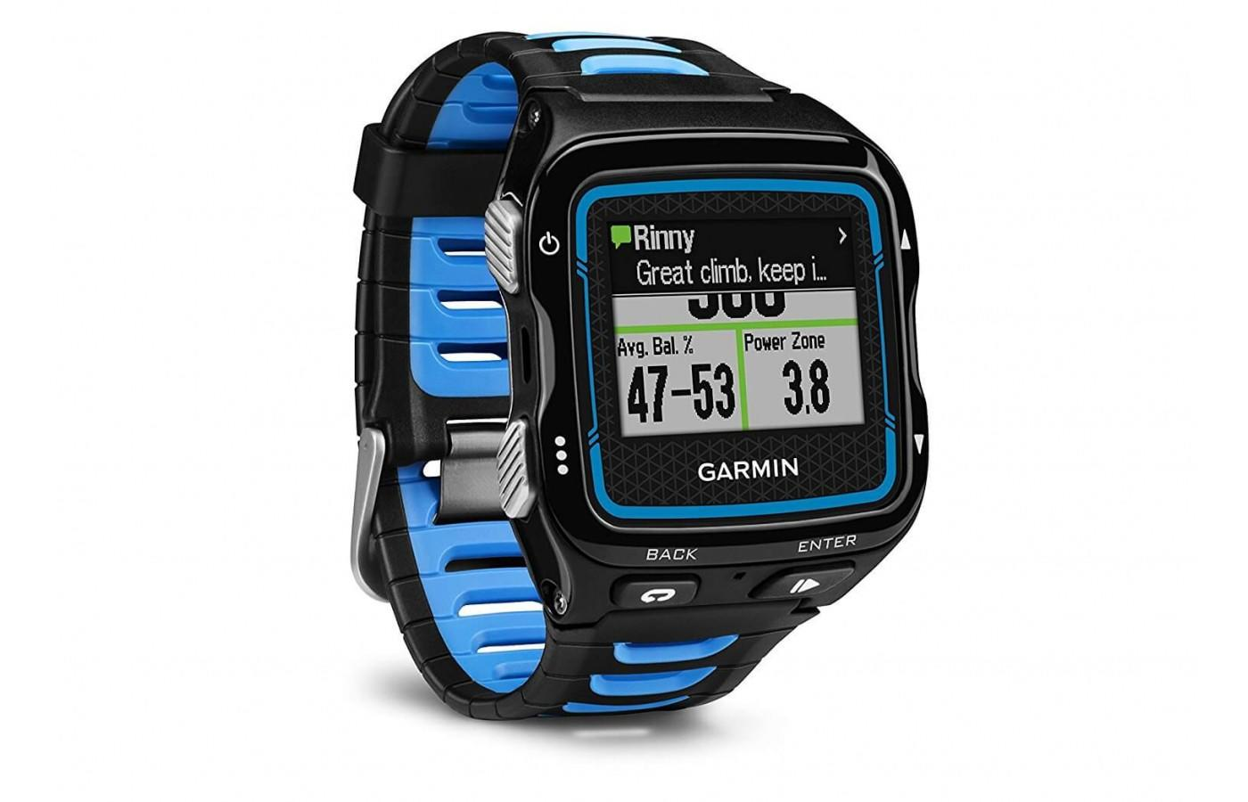 The band on the Garmin Forerunner 920 XT is very unique and cool
