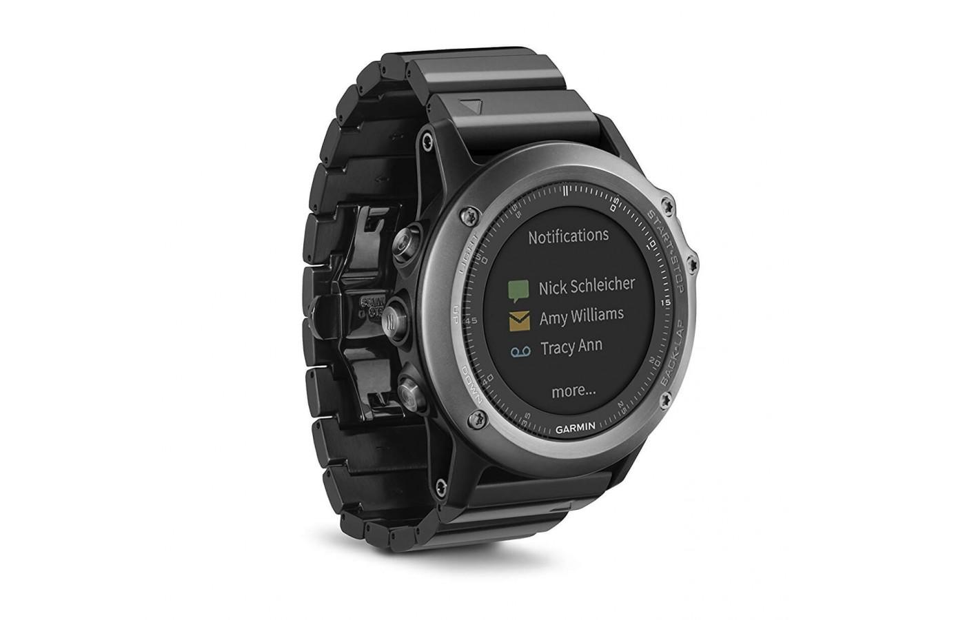 Garmin Fenix 3 Sapphire syncs to your smartphone for notifications
