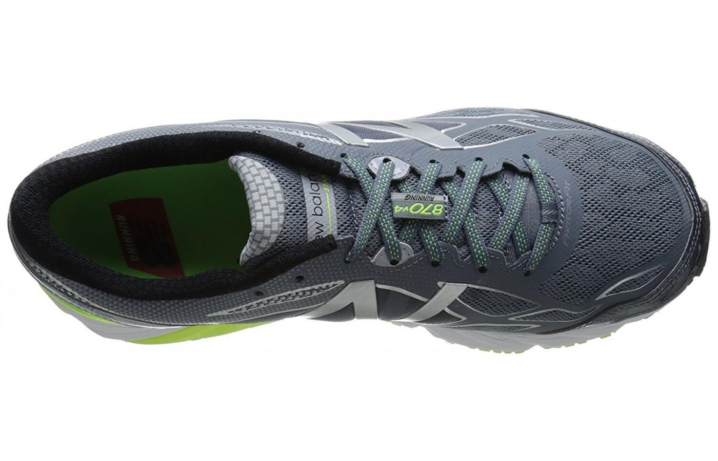the 870 v4 has a breathable mesh upper