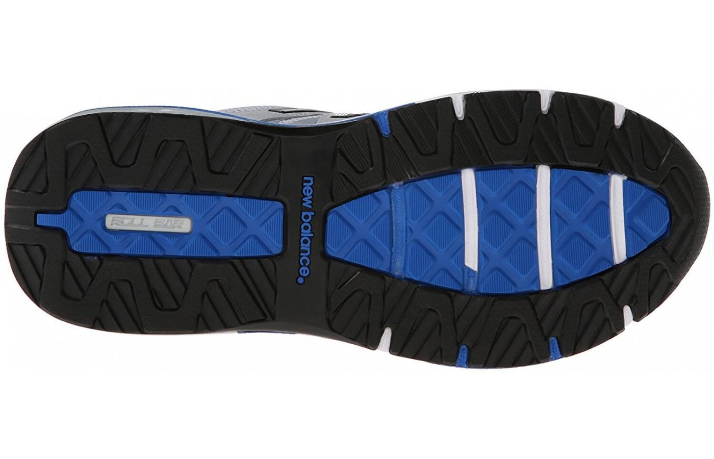 the outsole of the New Balance 1540 v2 uses blown rubber for traction and NDurance rubber for durability