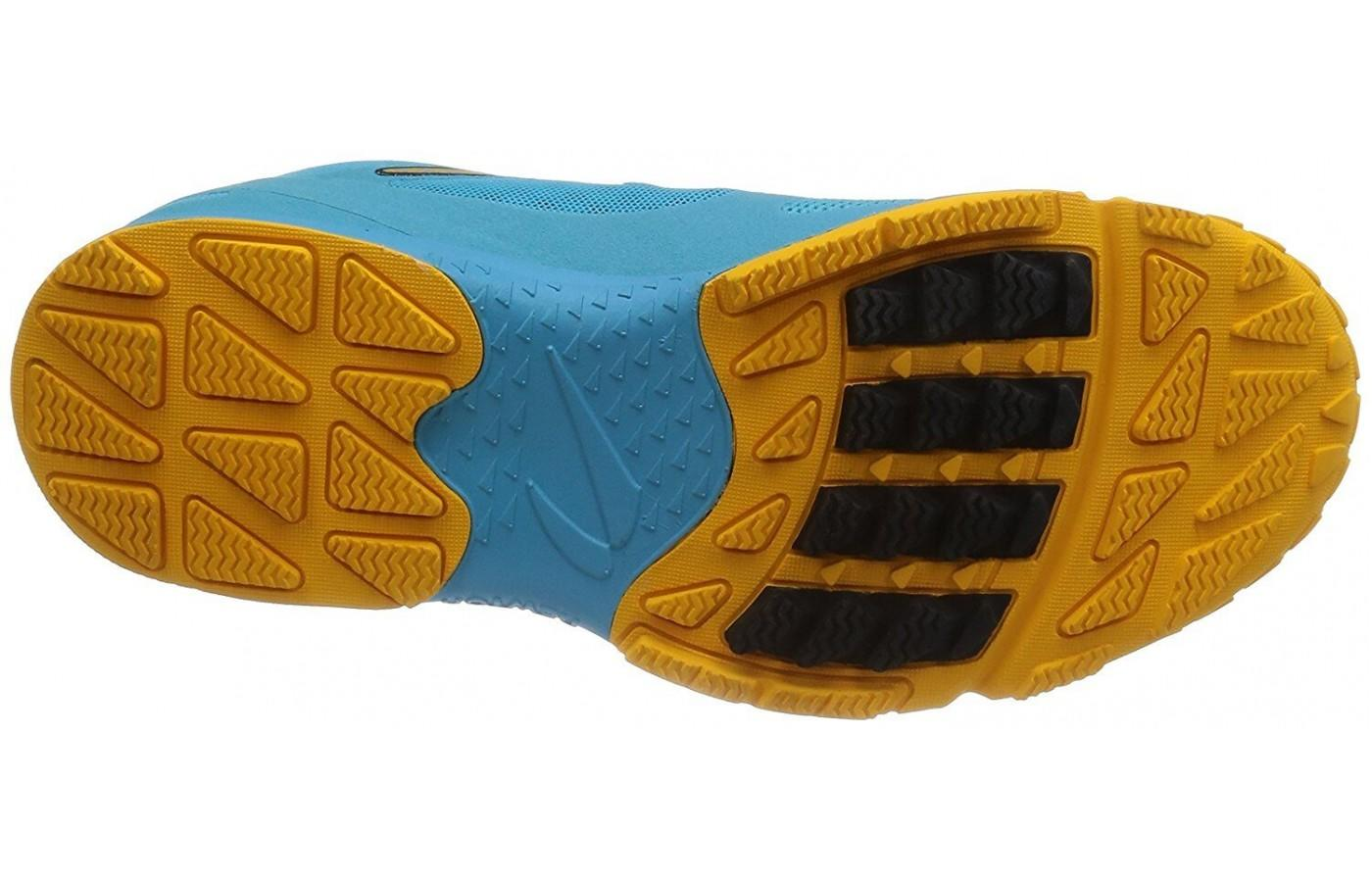the outsole of the Newton BoCo Sol is covered with multi-directional lugs