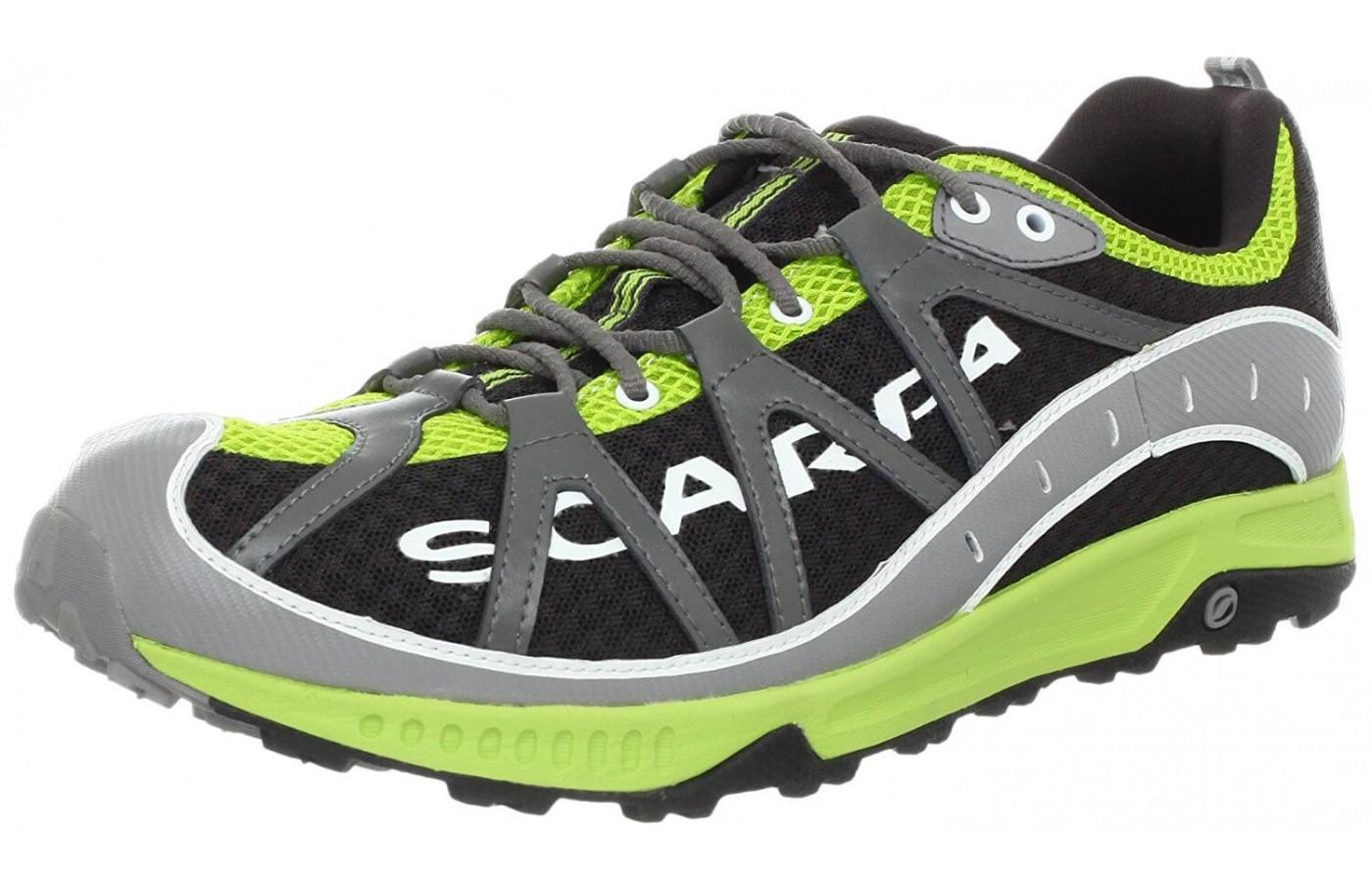 the Scarpa Spark is a tenacious trail runner