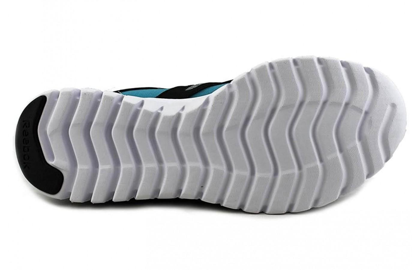 Grooves in the sole allow for flexibility