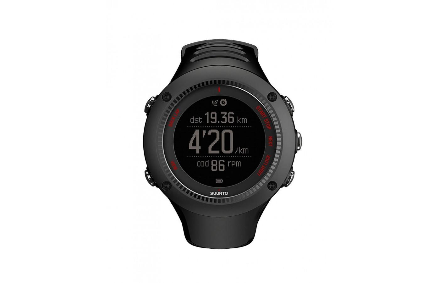 the Suunto Ambit Run has an easy-to-read display