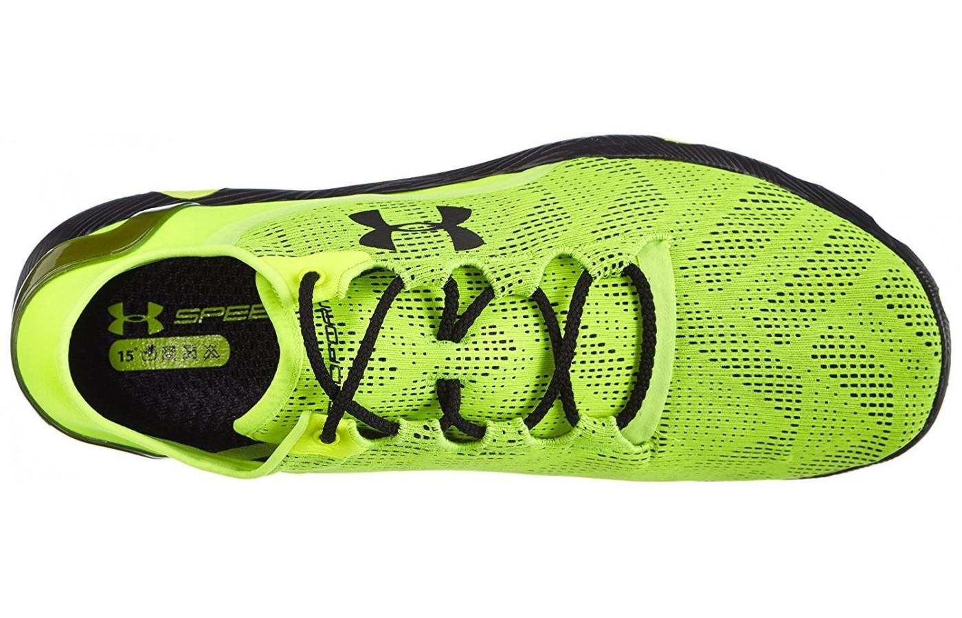 the Under Armour SpeedForm RC Vent has ArmourVent mesh that is breathable, flexible, lightweight, and fast drying