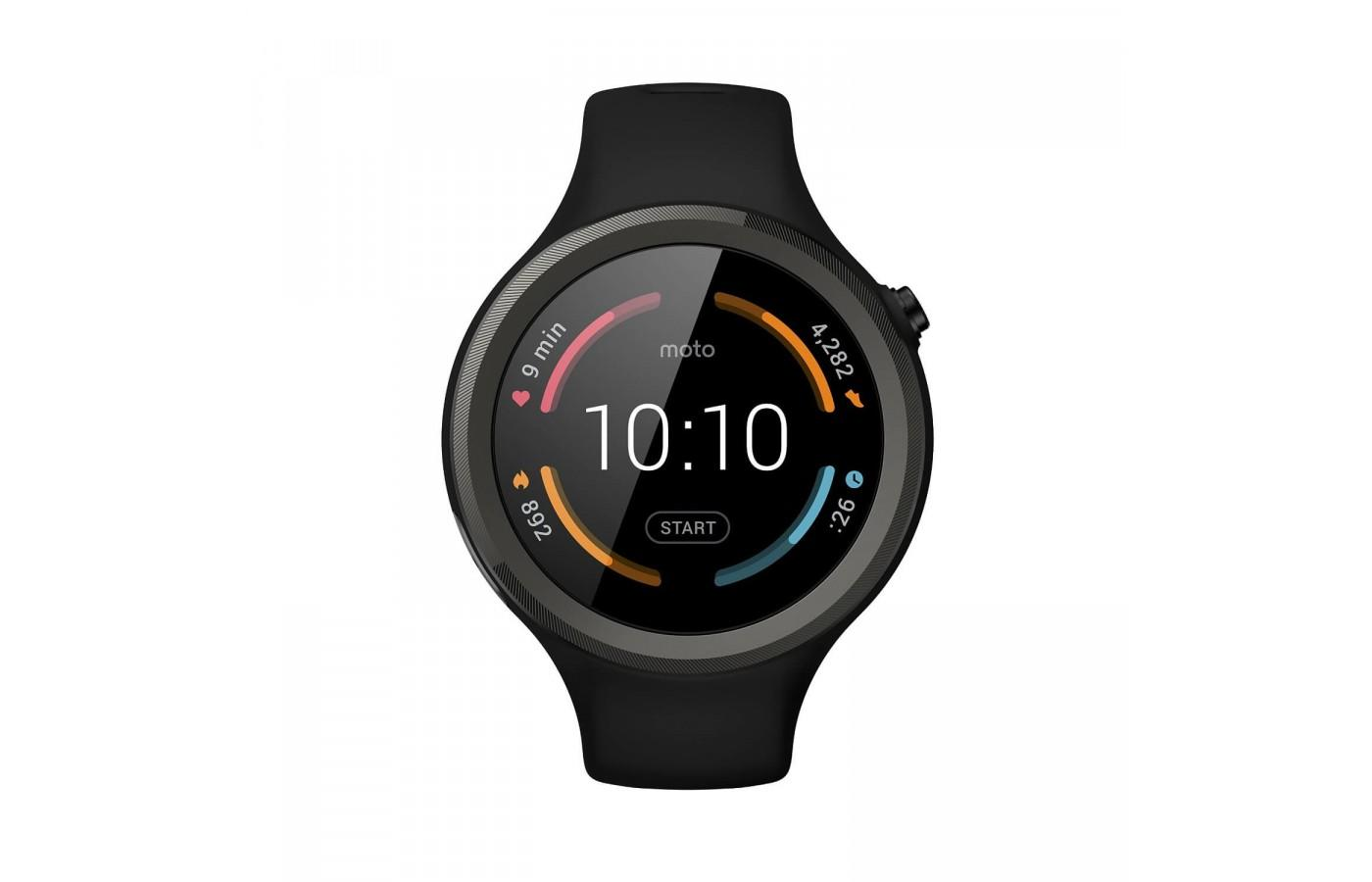 The Motorola Moto 360 Sport screen is made from Corning Gorilla Glass 3