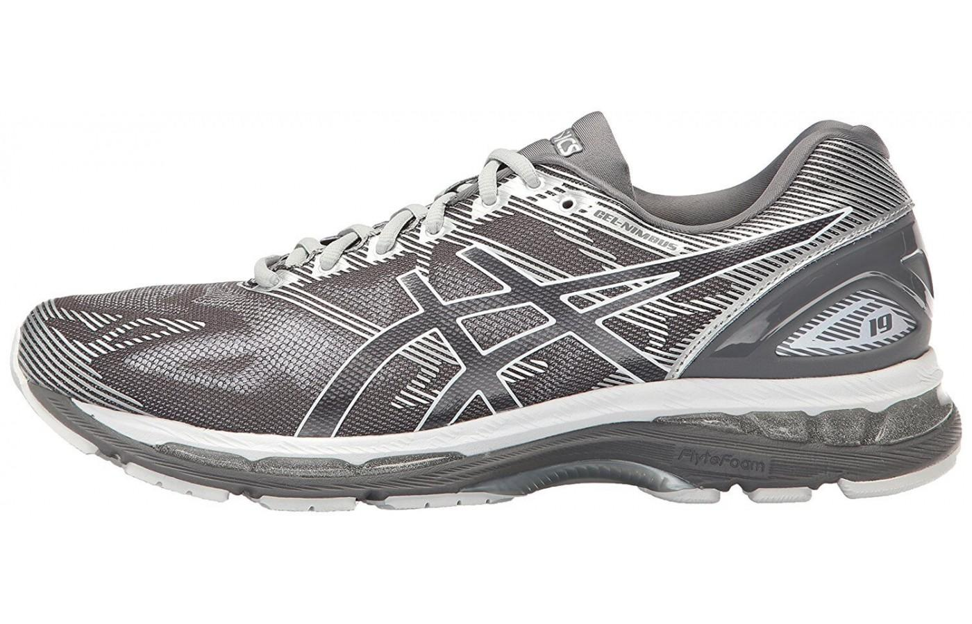 ASICS added an Exoskeletal Heel Counter to the Gel Nimbus 19 for a better fit through the heel.