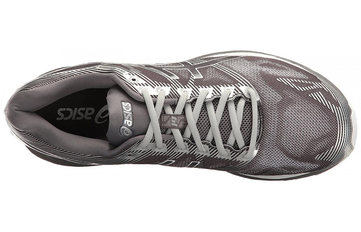 The updated upper of the ASICS Gel Nimbus 19 gives runners a glove-like fit.