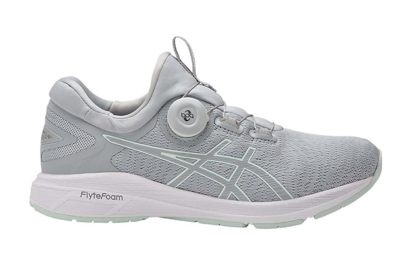The Asics Dynamis uses a Boa Fit System for a precision fit