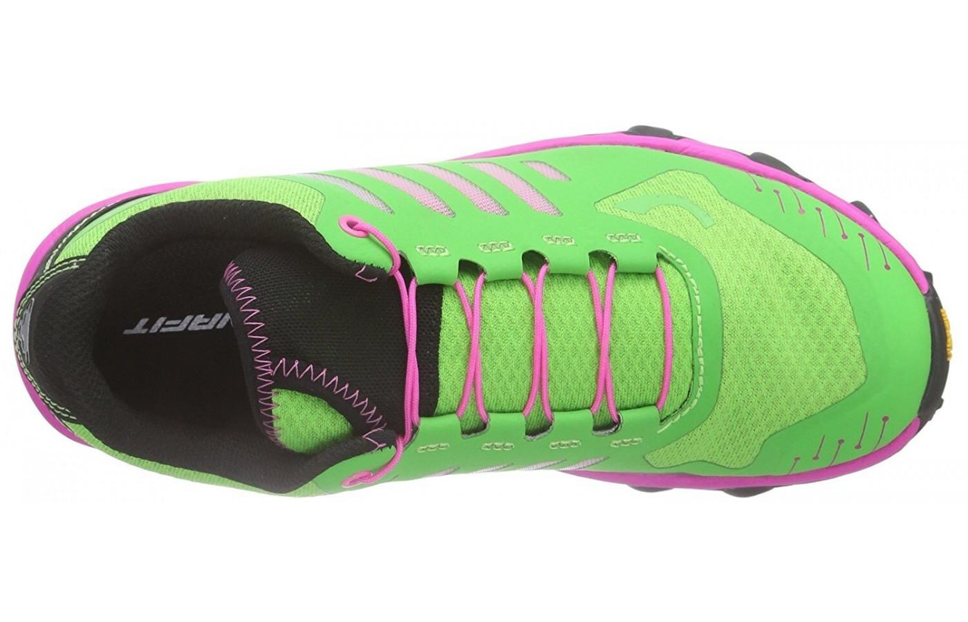 The upper of the Dynafit Feline Vertical Pro has mesh so the foot stays cool and dry even during races