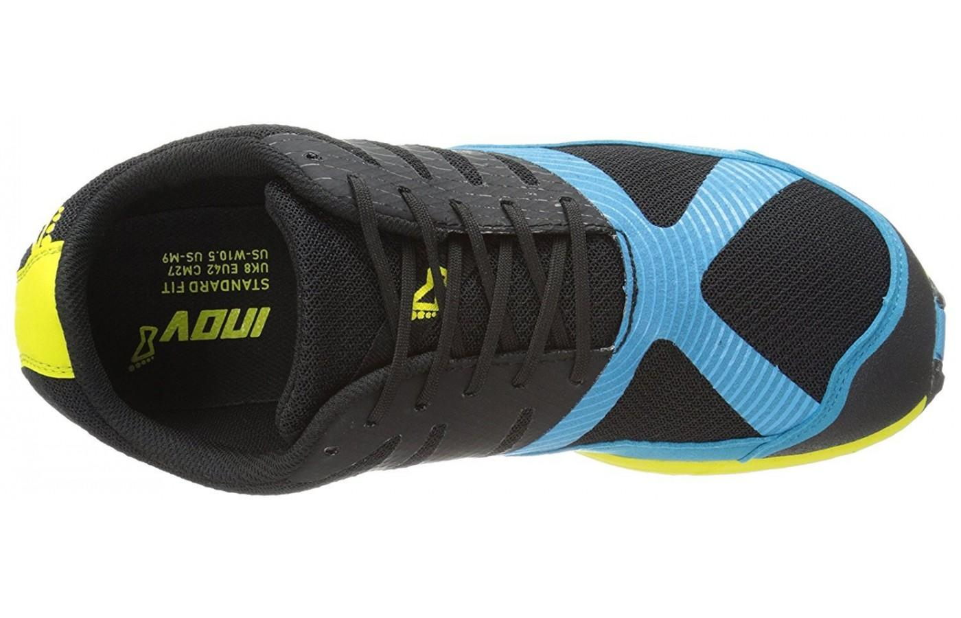 The Inov-8 Terraclaw 250 has synthetic mesh for lightweight breathability