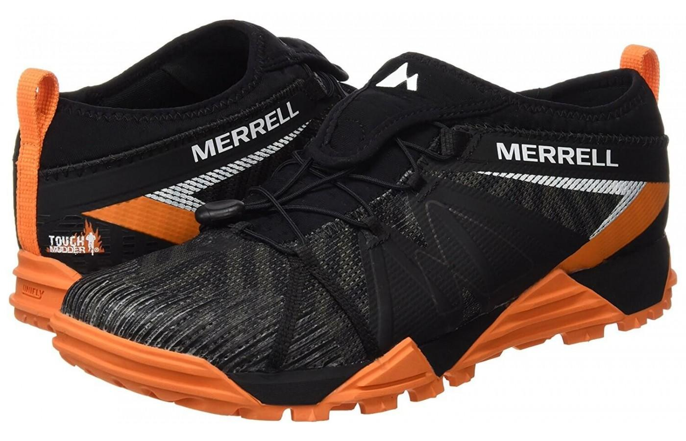 The Merrell Avalaunch Tough Mudder has a Bungee lace system for easy adjusting