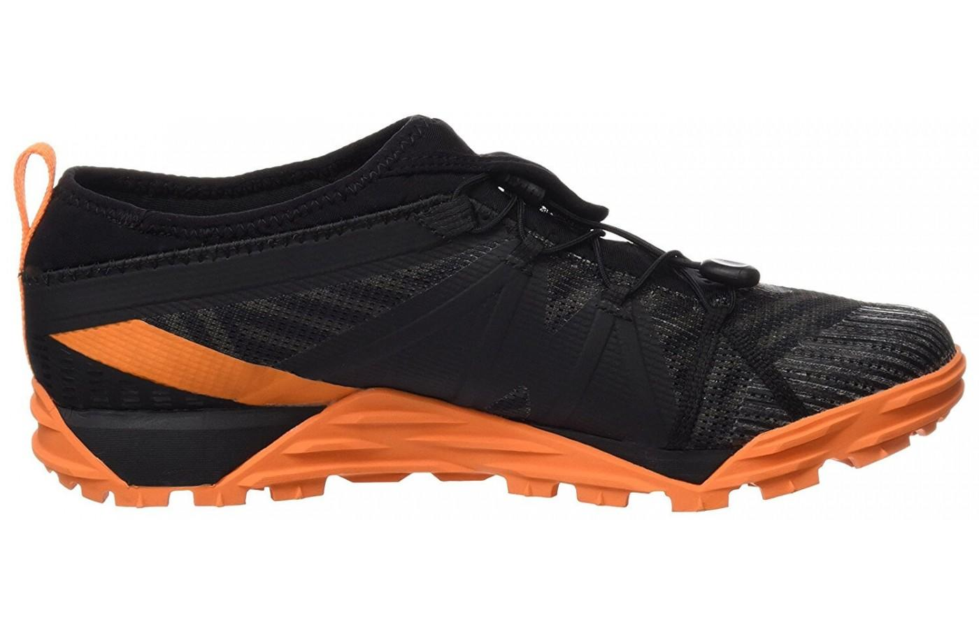 The Merrell Avalaunch Tough Mudder uses UniFly for cushioning and absorbing shock