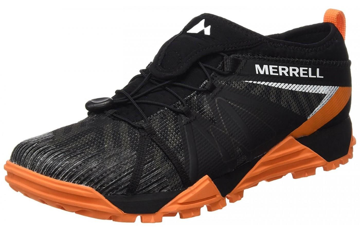 The Merrell Avalaunch Tough Mudder shown from the front/side