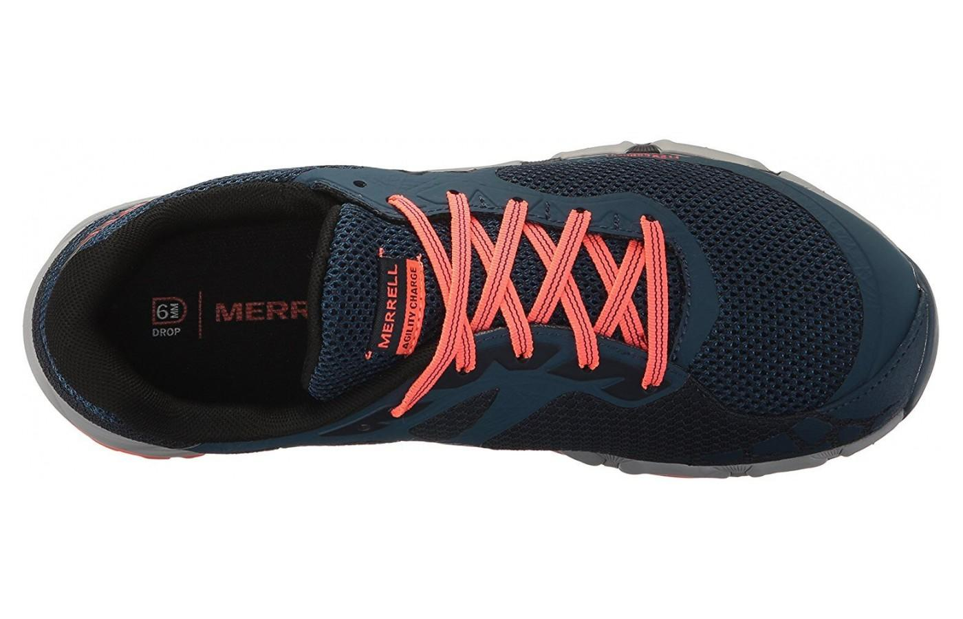 Merrell Agility Charge Flex features standard lacing system