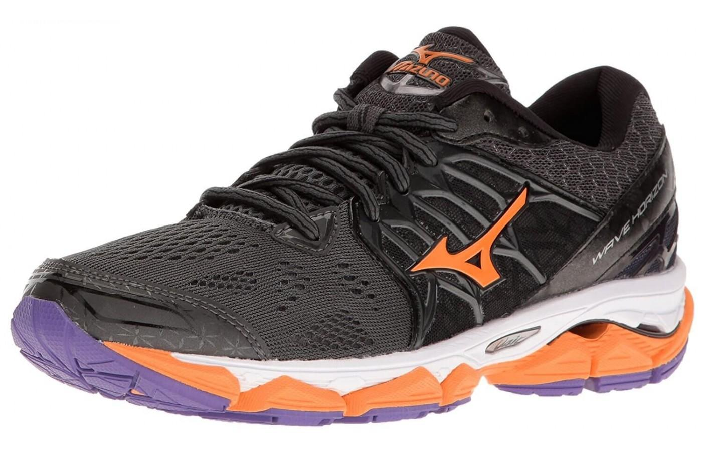 Mizuno Mens Wave Horizon Running Shoes ( Blue/Orange ) - MCKA4KNU8