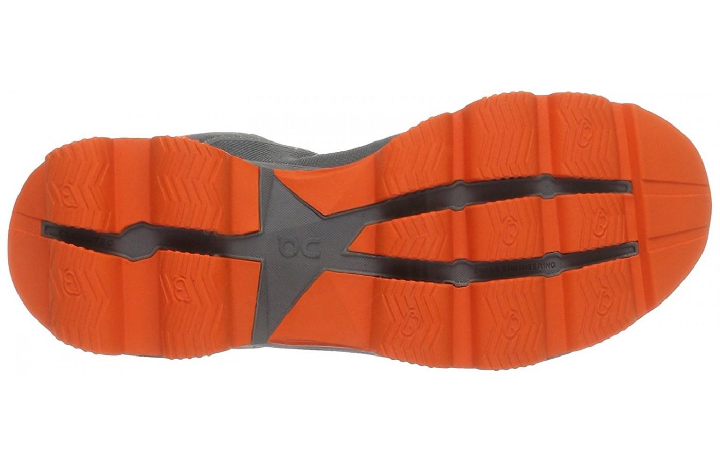 The On CloudSurfer outsole features Cloutec pillows