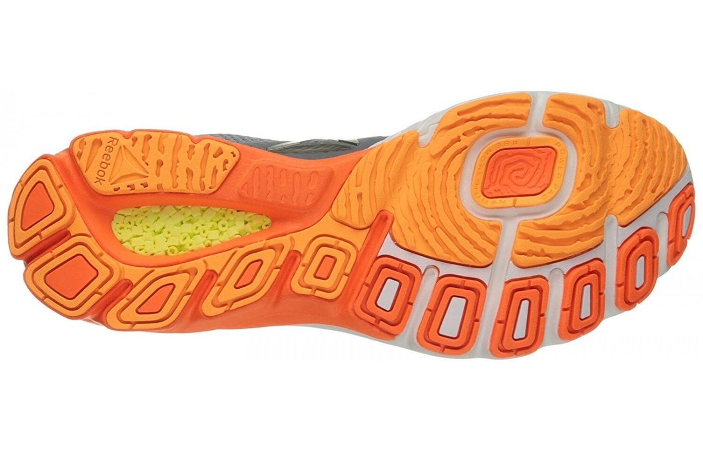 the unique outsole of the Reebok Harmony Road is durable and offers a great amount of traction