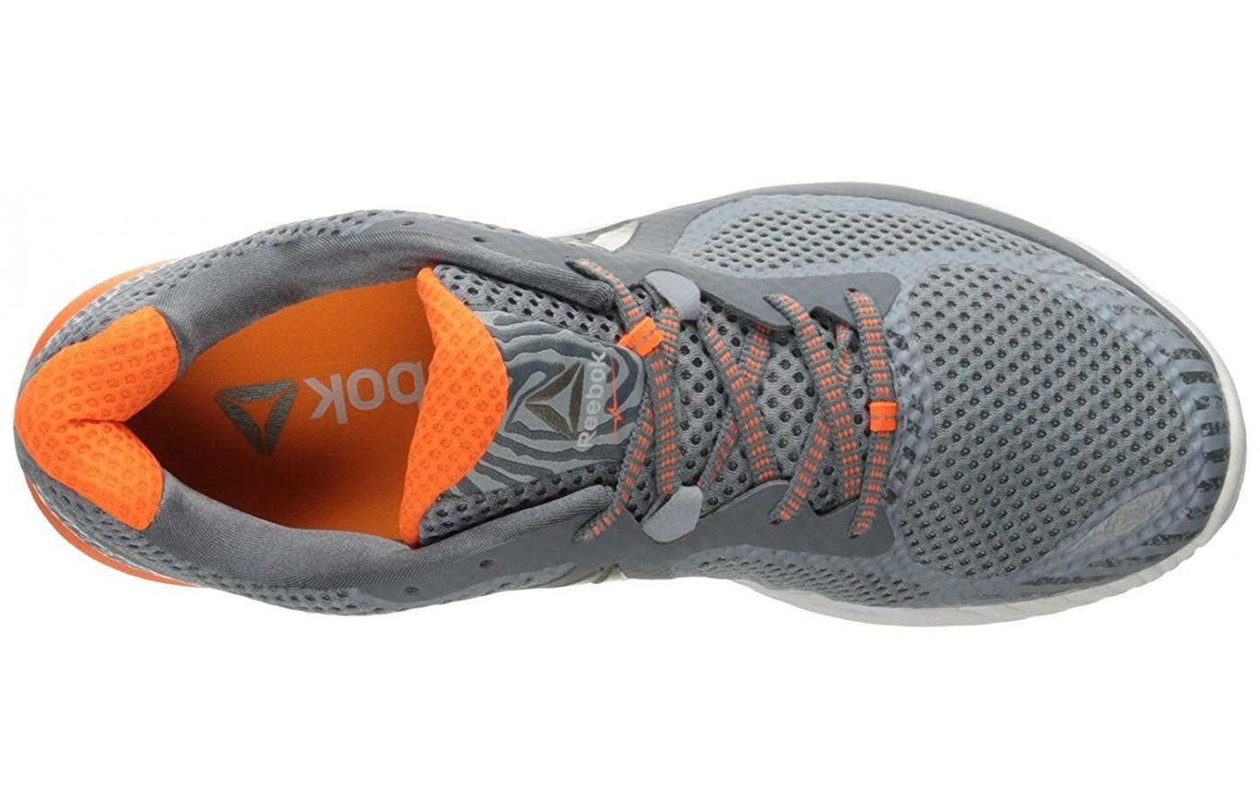 the upper of the Reebok Harmony Road is highly breathable and comfortable