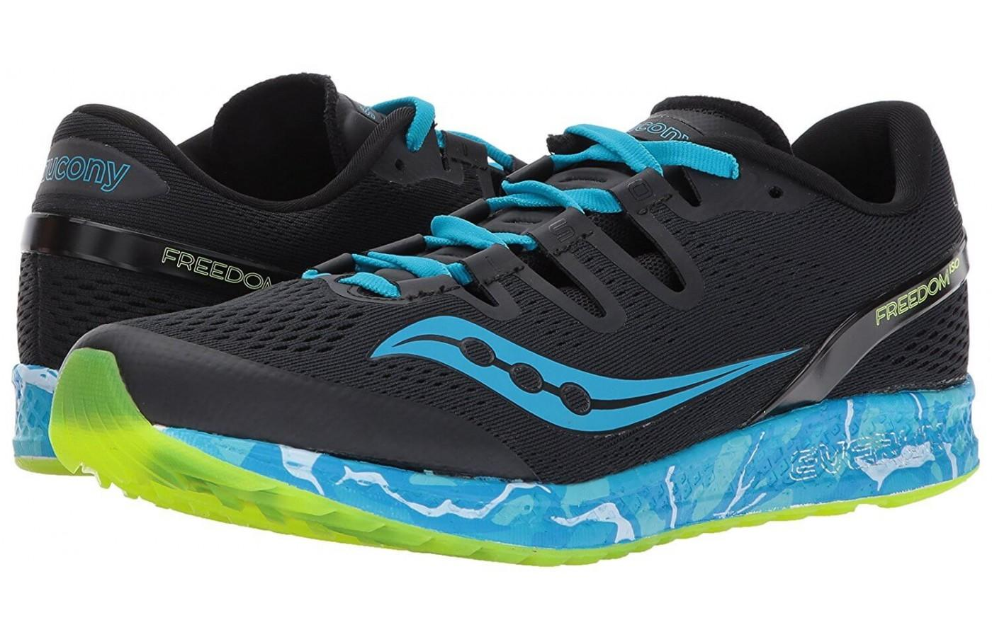 The Saucony Freedom ISO's design is eye-catching and pleasing to most runners.
